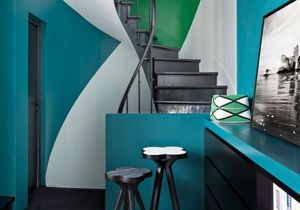 Bleu, vert et noir, le trio de choc de cette maison pas comme les autres