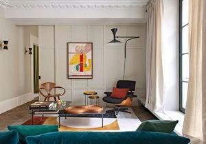 Cet appartement coloré bouscule les codes du classique