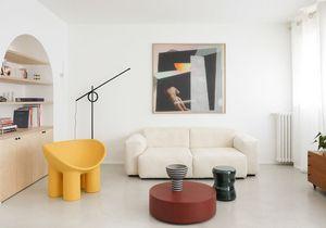 Simplicité et design pour cet étonnant trois-pièces de banlieue parisienne