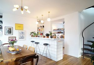 Un duplex parisien chic et lumineux