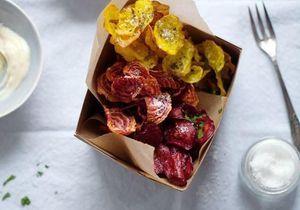 Des chips de légumes à croquer