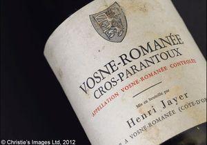 Vente de vins d'exception chez Christie's
