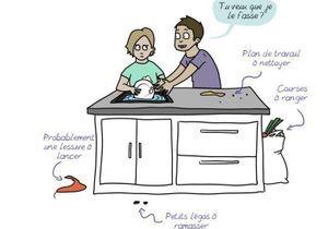 Tâches ménagères : l'appel de la dessinatrice Emma aux hommes