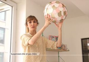 Atelier déco DIY : une suspension chic