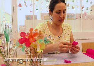 Idée déco : fabriquer des fleurs en papier japonais
