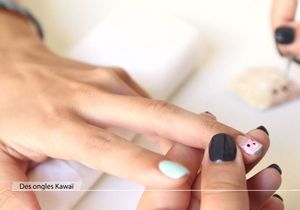 Nail Art : ongles Kawaï