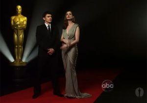 Anne Hathaway et James Franco fin prêts pour les Oscars