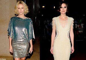 """Charlize Theron et Keira Knightley : la """"guerre"""" des Lady Di"""