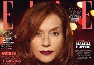 Isabelle Huppert, en couverture de ELLE cette semaine