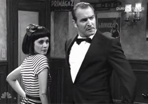 Jean Dujardin et Zooey Deschanel parodient « the Artist »