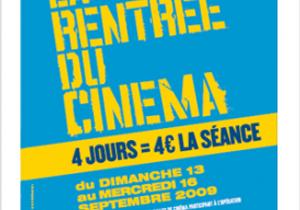 Rentrée du Cinéma : 4 euros la place !