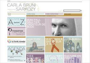 Le site de Carla Bruni-Sarkozy redémarre doucement