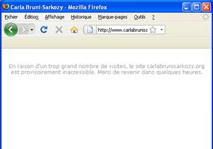Le site de Carla Bruni-Sarkozy, victime de son succès ?
