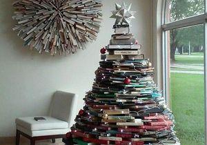 Ces dix sapins de Noël réalisés avec des livres vont vous éblouir