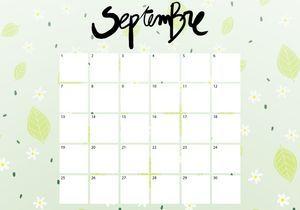 Imprimez votre calendrier du mois de septembre !