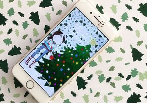 Téléchargez un fond d'écran illustré pour célébrer Noël