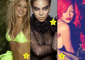 Rihanna, Shakira, Beyoncé : qui est la plus chaude ?