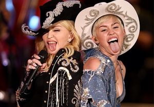Miley Cyrus-Madonna : regardez leur duo sur « We can't stop » et « Don't tell me to stop »