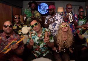 #PrêtàLiker : Madonna reprend «Holiday» avec Jimmy Fallon et des instruments pour enfants