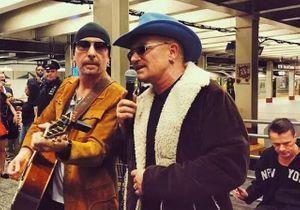 U2 organise un concert surprise dans le métro new-yorkais
