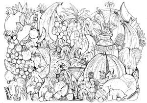 #MonColoriageELLE : la salade de fruits