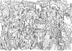 #MonColoriageELLE : le jardin fleuri