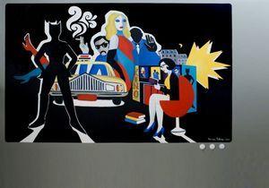 Découvrez les peintures de Marjane Satrapi