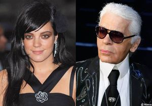 Karl Lagerfeld et Lily Allen, ce soir au « Grand Journal »