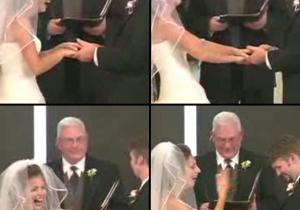 """Vidéo Buzz : fou rire pour la mariée avant de dire """"oui"""" !"""