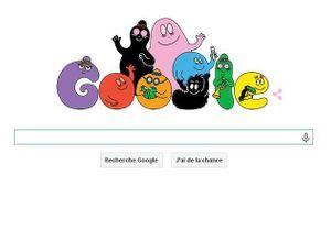 Google fête les 45 ans des Barbapapa avec un Doodle