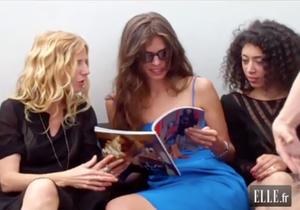 """Cannes 2011 : quand les actrices de """"Polisse"""" feuillettent ELLE"""