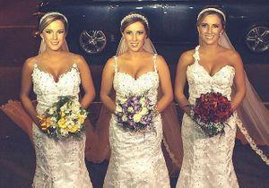 #PrêtàLiker : ces triplées se marient le même jour au même moment !