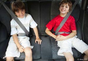 2 enfants sur 3 mal attachés en voiture