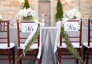 Des chaises de mariage qui font rêver