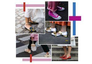 6 paires de chaussures plates à porter avec des robes