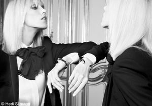 Anja Rubik pour Saint Laurent Paris : les photos d'Hedi Slimane
