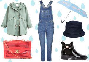 Cool en tenue de pluie