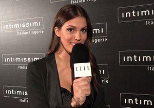 Iris Mittenaere nous parle lingerie au défilé Intimissimi