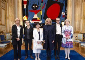 Brigitte Macron ose le jean slim pour une rencontre à l'Elysée