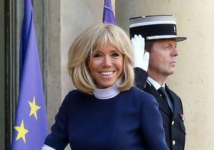 Brigitte Macron porte une même robe deux fois pour recevoir un chef d'Etat