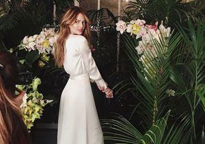 Caroline Receveur en longue robe blanche : son annonce sur Instagram