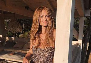 Caroline Receveur fait monter la température en maillot de bain léopard