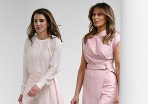 Melania Trump et Rania de Jordanie : jumelles de look à la Maison Blanche