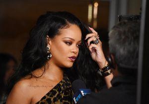 Rihanna : féline en robe léopard pour le lancement de son livre
