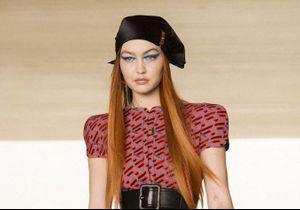 Versace : Gigi Hadid de retour sur les podiums après son accouchement