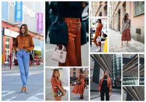 Comment porter la couleur rouille : nos 12 inspirations lookées