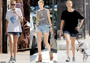 Agyness et son short en Deyn !