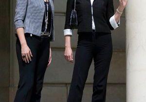 Carla Bruni-Sarkozy revisite le tailleur pantalon