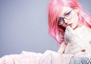 Charlotte Free sous l'objectif de Karl Lagerfeld pour les lunettes Chanel