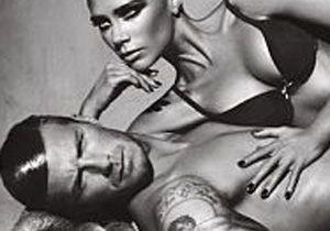 David et Victoria Beckham posent en petite tenue !
